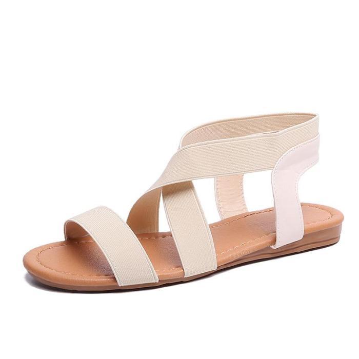Summer Casual Shoes Female Women Flat Rome Sandals