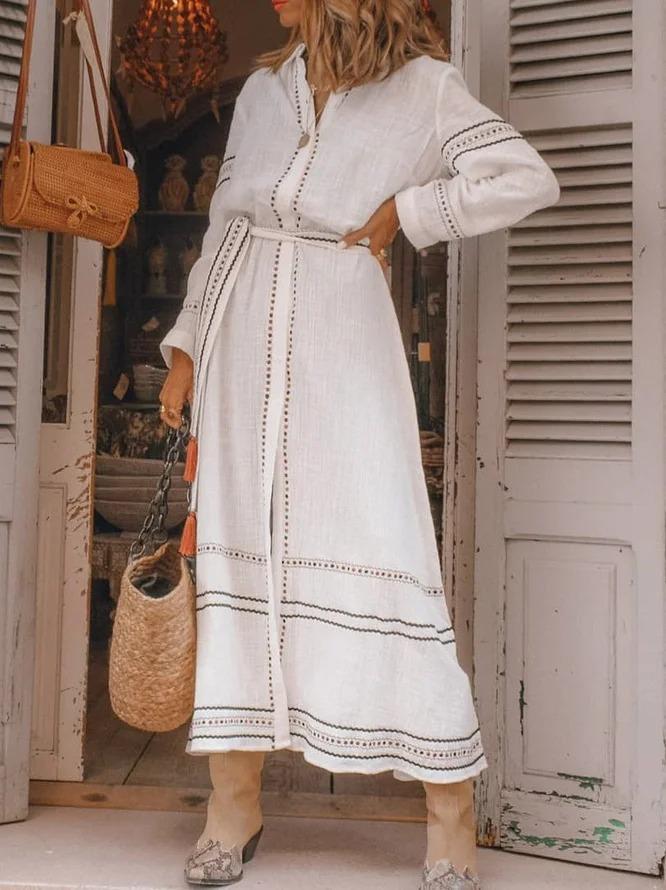Casual Boho Cotton Dress