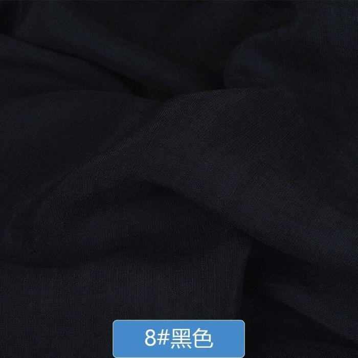 50x150cm Solid Color Soft Linen Slub Cotton Fabric DIY Dress Robes Clothing Handmade Patchwork Fabric