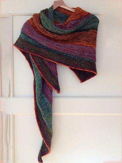 Color Boho Color-Block Scarves & Shawls