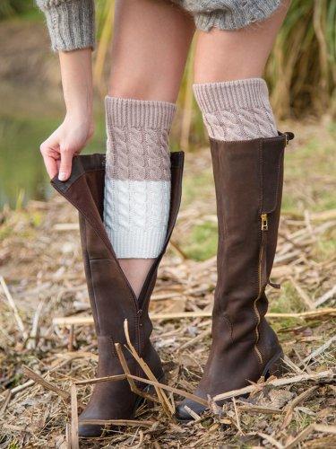 Bicolor Long Ankle Socks