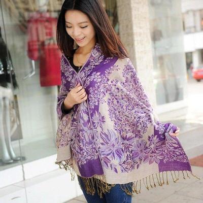 Shawl Autumn Winter Ethnic Blanket Ladies All-match Tassel Cotton Linen Scarf