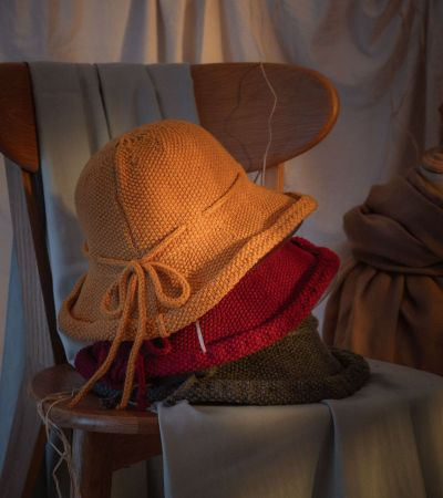 Korean wool knitted fisherman hat women's autumn