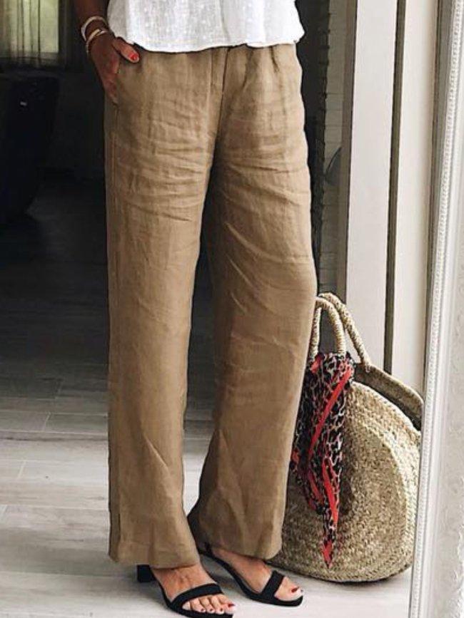 Casual Plain Pants