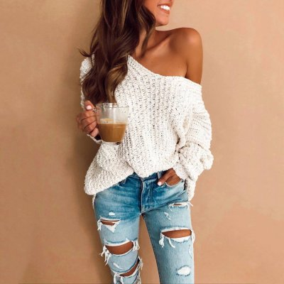 Hooded Hooded Knit Sweater