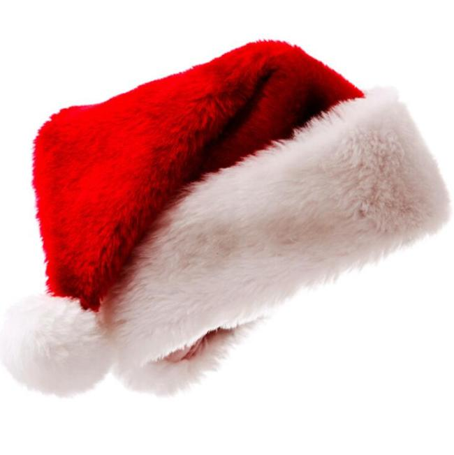 New Cute Red Christmas Hat Warm Cloth Cap Adult Child Family Hat Santa Claus Hat