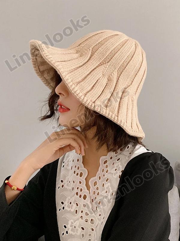 Women's Knitted Wool Fisherman Hat