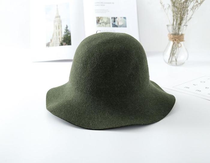 Elegant Fashion Feminine Fleece Felt Hat