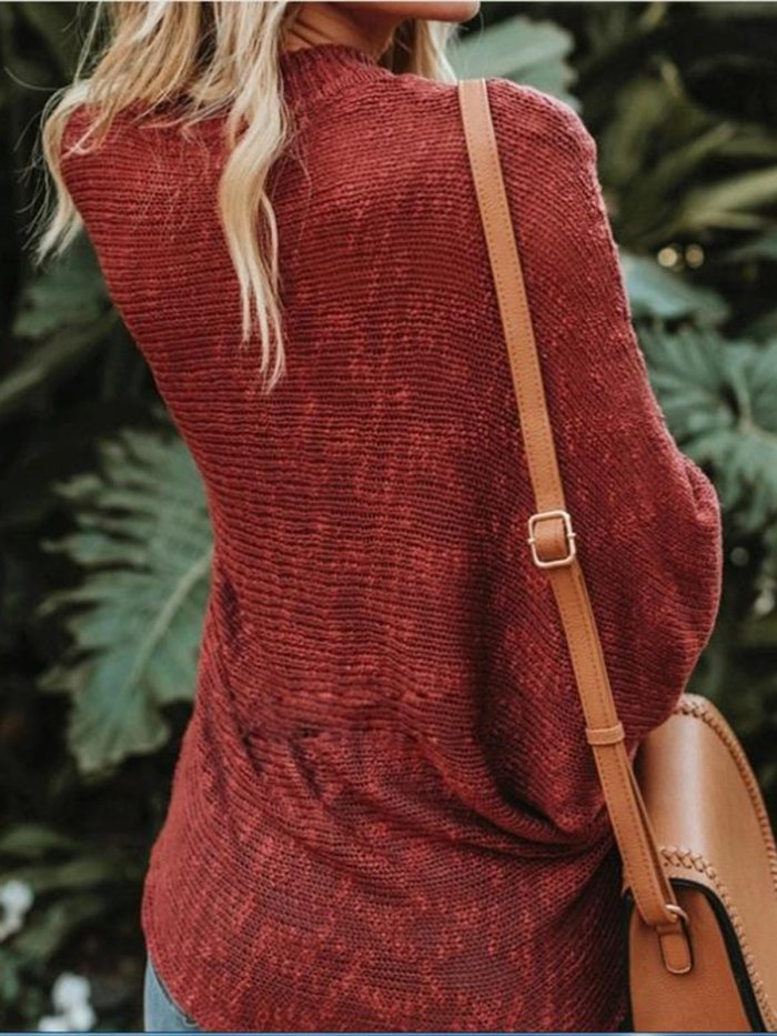 Strap loose large size sweater