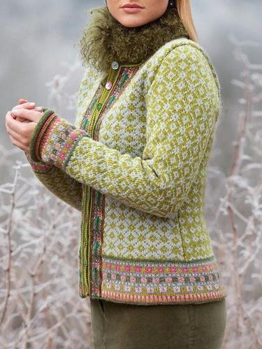 Long Sleeve Tribal Printed Boho Women's Cardigan