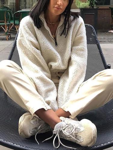 Fashion Zipper Casual Jacket Sweater