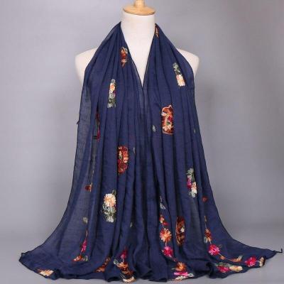 2020 Women Fashion Plain Beige Stitch Cashew Floral Viscose Shawl Long Soft Wrap