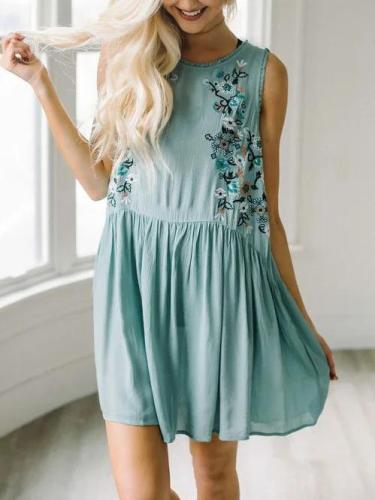 Casual Printed Cotton Holiday Summer Dress
