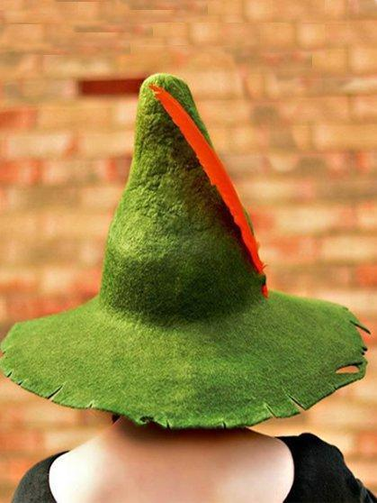 Green Casual Cotton-Blend Hats