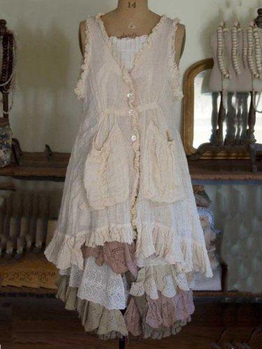 Beige Pockets Sleeveless Vintage Dresses