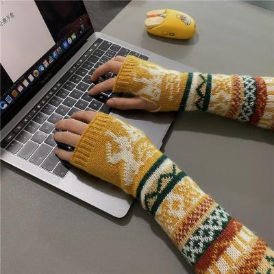 Winter Fingerless Knit Gloves & Mittens