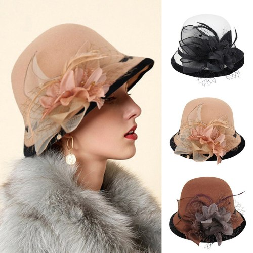 Lady Top Hat Autumn And Winter Fashion Woolen Cloche Hats Woman Wool Felt Top Hat