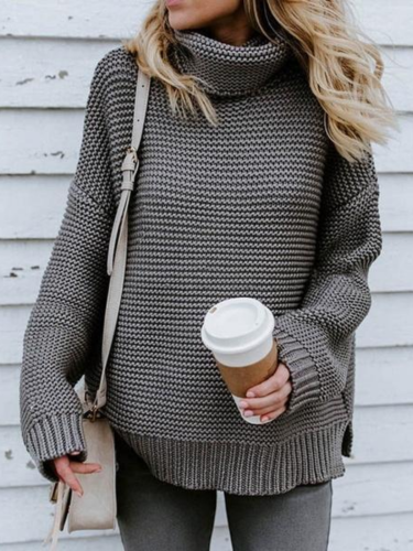 Casual Loose Striped Knitted Sweater