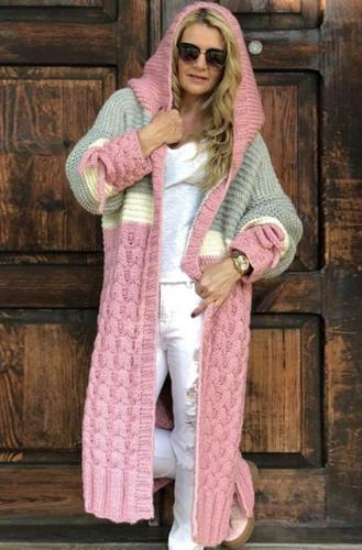 Fashion Knitted Outerwear Sweater Cardigan Women Long Sleeve Female Spring Cardigans Loose Knitwear Cardigan