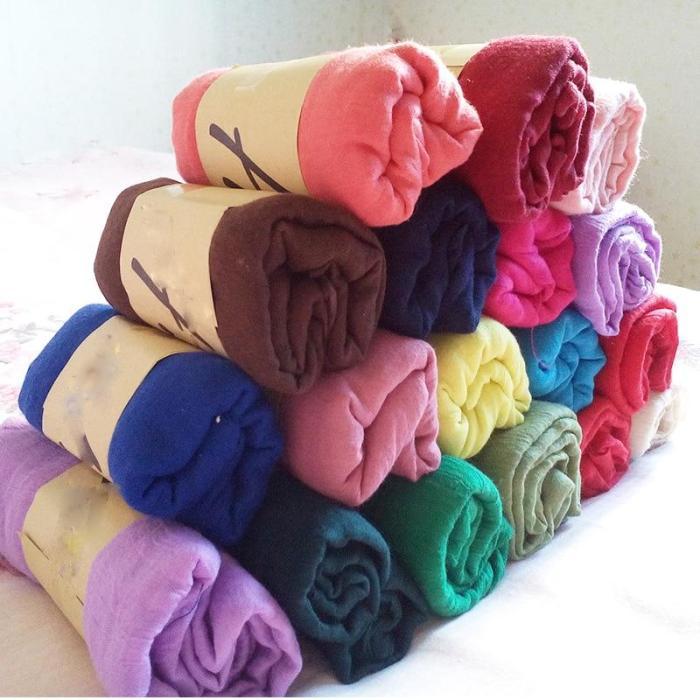 Black/Purple/Yellow/Gray/White 18 Colors Soft Cotton Line Scarves Women Long Large Size Scarf Fashion Solid Color Ladies Wraps