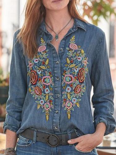 Long Sleeve Vintage Shirts & Tops