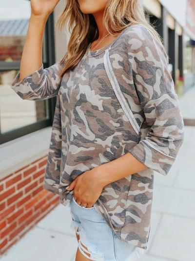 Long Sleeve Casual Crew Neck Shirts & Tops