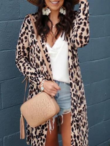 Women's Fashion Leopard Print Cardigan