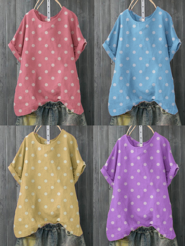 Casual Polka Dots Shirts & Tops