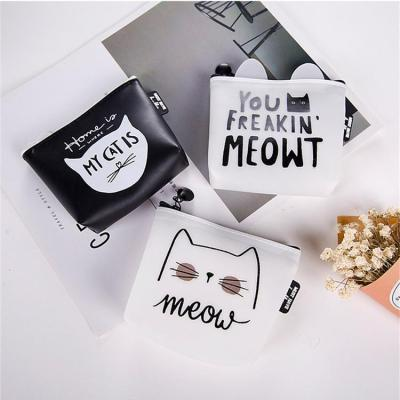 Silica gel Cute Cat Letter Wallets