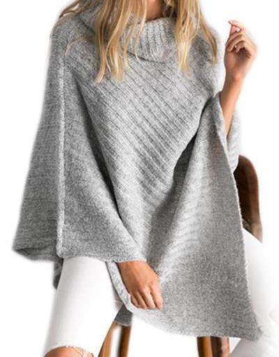 2020 Spring and Autumn New Women's Knitwear Irregular Turtleneck Pullover Bat Sweater Shawl Sweater women sweater
