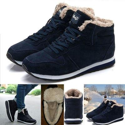 Women Keep Warm Plush Ankle Snow Work Boots Artificial Suede Booties