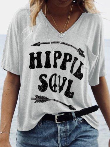 Women Casual Printed Tops Tunic T Shirt Tee