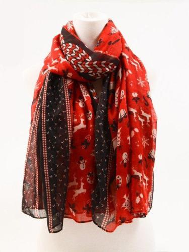 Christmas Red Casual Scarves & Shawls