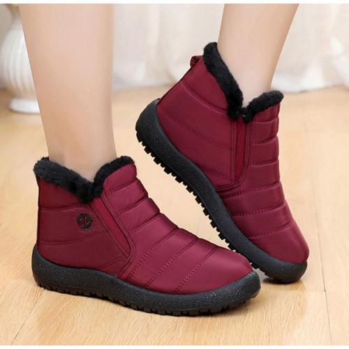 Women Winter Waterproof Comfy Slip-On Snow Boots