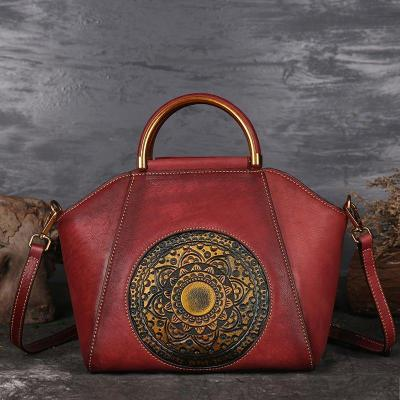Genuine Leather Vintage Totem Designer Handbag Shoulder Bags