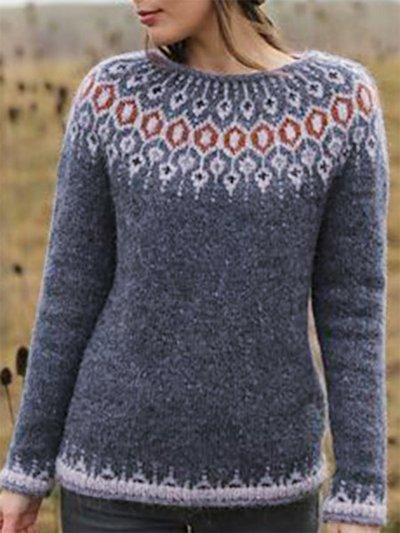 Color-Block Vintage Sweater