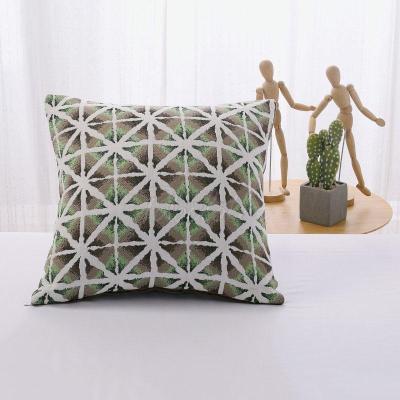 Plant Flower Chenille Pillowcase