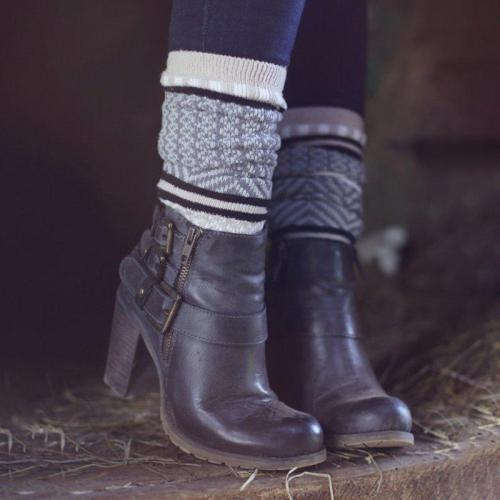 Artificial Leather Adjustable Buckle Chunky Heel All Season Boots