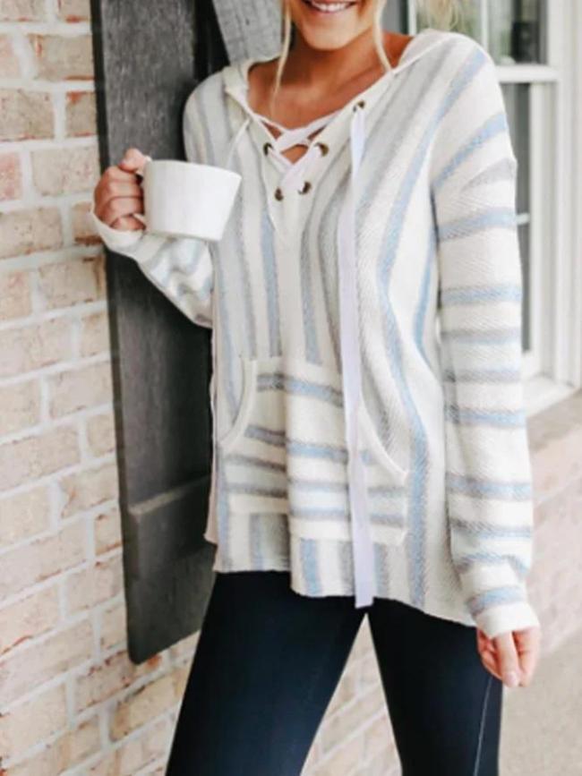 Knitted Casual Long Sleeve Hoodies