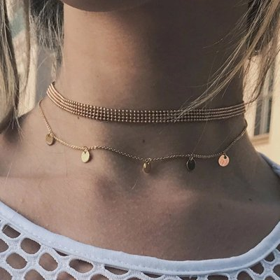 Multilayer Fashion Round Metal Necklace