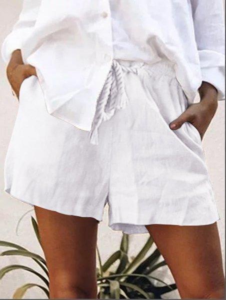 Pockets Cotton-Blend Pants