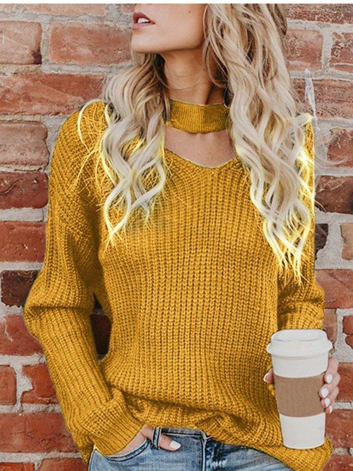 Women Winter Long Sleeve Sweet Sweaters