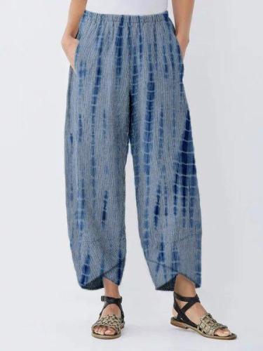 Dyed Printed Casual Pants