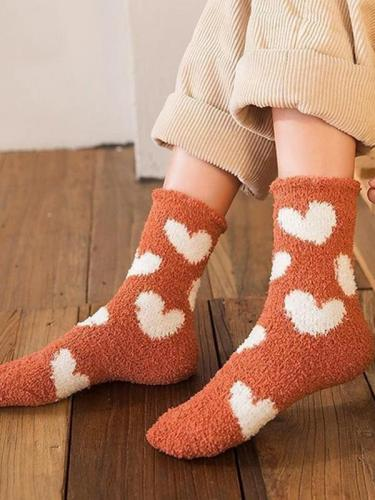 Coral Velvet Socks Sleep Socks