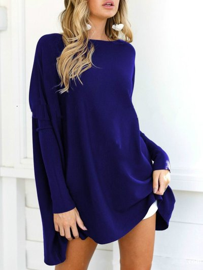 Polyester Solid Casual Crew Neck Shirt
