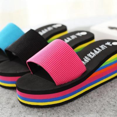 Sandkini Colorful Women Beach Wedges Slippers
