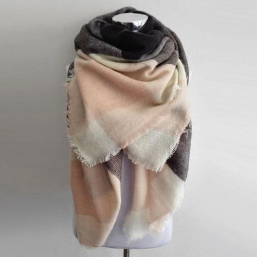 Scarf Plaid Cashmere Scarf Women Winter Scarf Warm Big Square Scarf Acrylic Women Scarves Shawls Bufandas