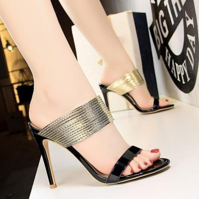 Summer Fashion Ladies Straps Open Toe High Heel Sandals and Slippers