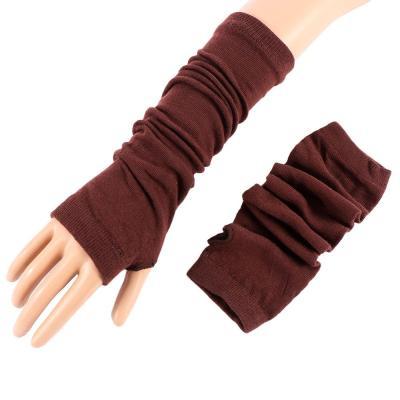 Women Sunscreen Arm Warmer Half Finger Cotton Long Fingerless Gloves