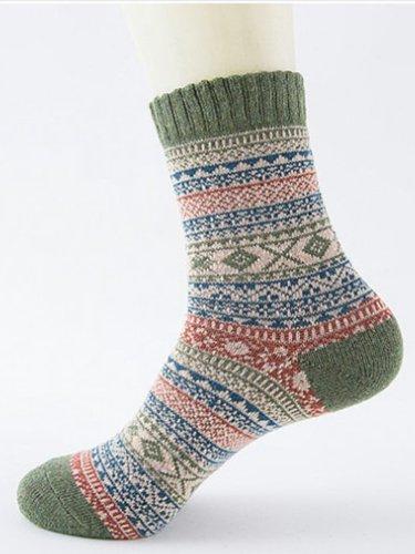 Mens Womens Casual Sheath Stripes Socks